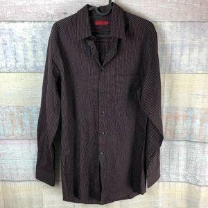 Alfani Fitted Long Sleeve Dress Shirt P4